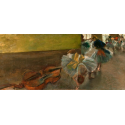 Reprodukcje obrazów Dancers in the Rehearsal Room with a Double Bass - Edgar Degas