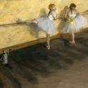Reprodukcje obrazów Dancers Practicing at the Barre - Edgar Degas