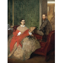 Reprodukcje obrazów Edmondo and Thérèse Morbilli - Edgar Degas