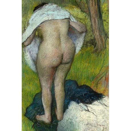 Girl Drying Herself