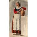 Reprodukcje obrazów Italian Woman - Edgar Degas
