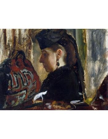 Reprodukcje obrazów Mademoiselle Marie Dihau - Edgar Degas
