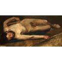 Reprodukcje obrazów Male Nude - Edgar Degas