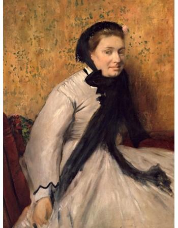 Reprodukcje obrazów Portrait of a Woman in Gray - Edgar Degas