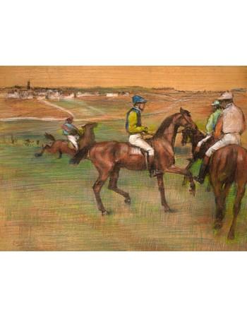Reprodukcje obrazów Race Horses - Edgar Degas