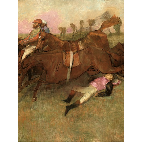 Scene from the Steeplechase The Fallen Jockey
