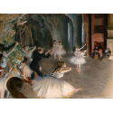 Reprodukcje obrazów The Rehearsal of the Ballet Onstage - Edgar Degas