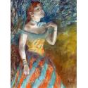 Reprodukcje obrazów The Singer in Green - Edgar Degas