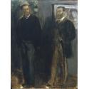 Reprodukcje obrazów Two Men - Edgar Degas