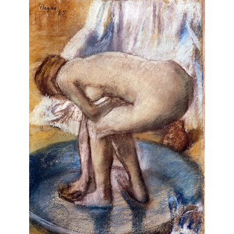 Woman Bathing in a Shallow Tub