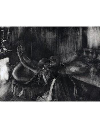 Reprodukcje obrazów Woman by a Fireplace - Edgar Degas