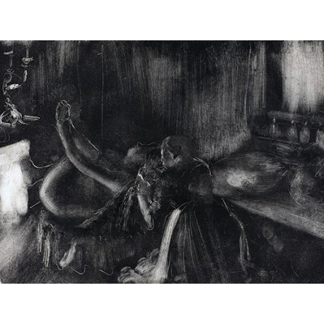 Woman by a Fireplace