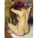 Reprodukcje obrazów Woman Combing Her Hair - Edgar Degas