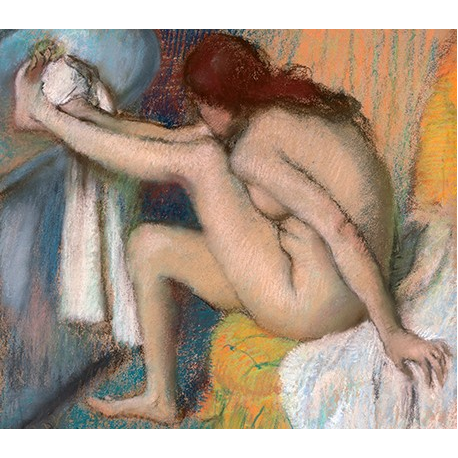 Woman Drying Her Foot
