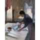 Woman Ironing, begun