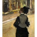 Reprodukcje obrazów Woman Viewed from Behind - Edgar Degas