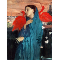 Reprodukcje obrazów Young Woman with Ibis - Edgar Degas