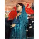 Reprodukcje obrazów Young Woman with Ibis - Edgar Degas