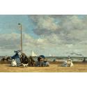 Reprodukcje obrazów Beach at Trouville - Eugene Boudin