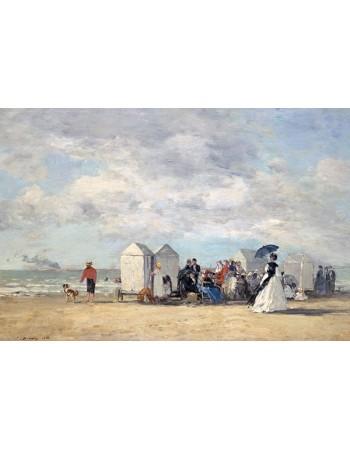 Reprodukcje obrazów Beach Scene - Eugene Boudin