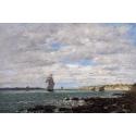 Reprodukcje obrazów Coast of Brittany - Eugene Boudin