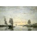 Reprodukcje obrazów Entrance to the Harbor, Le Havre - Eugene Boudin