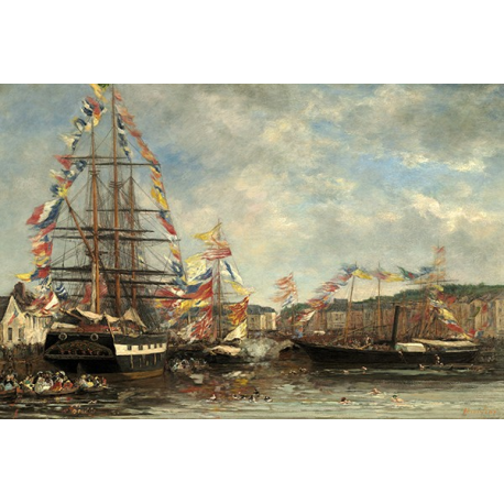 Festival in the Harbor of Honfleur