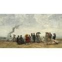 Reprodukcje obrazów Figures on the Beach - Eugene Boudin