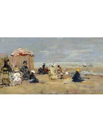 Reprodukcje obrazów On the Beach - Eugene Boudin