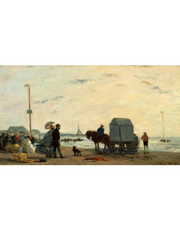 Reprodukcje obrazów On the Beach at Trouville - Eugene Boudin