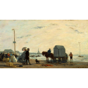 Reprodukcje obrazów On the Beach at Trouville - Eugene Boudin