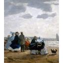 Reprodukcje obrazów On the Beach, Dieppe - Eugene Boudin