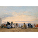 Reprodukcje obrazów On the Beach, Sunset - Eugene Boudin
