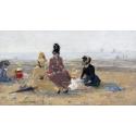 Reprodukcje obrazów On the Beach, Trouville - Eugene Boudin