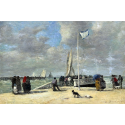 Reprodukcje obrazów On the Jetty - Eugene Boudin