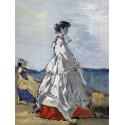 Reprodukcje obrazów Princess Pauline Metternich on the Beach - Eugene Boudin