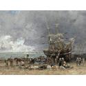 Reprodukcje obrazów Return of the Terre-Neuvier - Eugene Boudin
