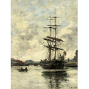 Reprodukcje obrazów Ship on the Touques - Eugene Boudin