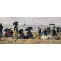Reprodukcje obrazów The Beach - Eugene Boudin