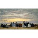 Reprodukcje obrazów The Beach at Villerville - Eugene Boudin