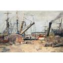Reprodukcje obrazów The Trawlers - Eugene Boudin