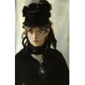 Reprodukcje obrazów Berthe Morisot With a Bouquet of Violets - Edouard Manet