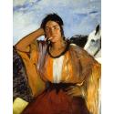 Reprodukcje obrazów Gypsy with a Cigarette - Edouard Manet