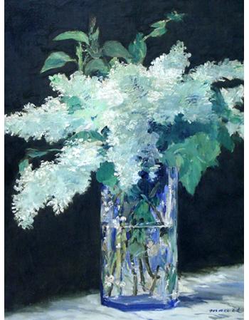 Reprodukcje obrazów Still Life, Lilac Bouquet - Edouard Manet