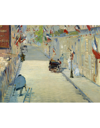 The Rue Mosnier with Flags