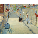 Reprodukcje obrazów The Rue Mosnier with Flags - Edouard Manet