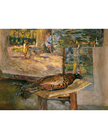 Reprodukcje obrazów Interior with Paintings and a Pheasant - Edouard Vuillard