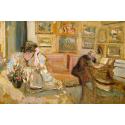 Reprodukcje obrazów Jos and Lucie Hessel in the Small Salon, Rue de Rivoli - Edouard Vuillard