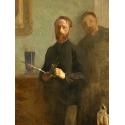 Reprodukcje obrazów Self-Portrait with Waroquy - Edouard Vuillard