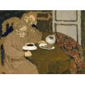 Reprodukcje obrazów Two Women Drinking Coffee - Edouard Vuillard